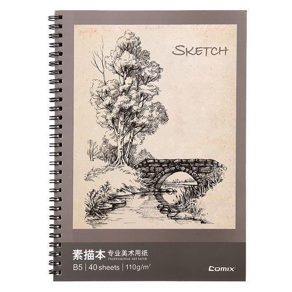 Comix μπλοκ σχεδίου, Β5 (17,6x25 εκ.), 40 φύλλα,110γρ., χαρτί σαμουά