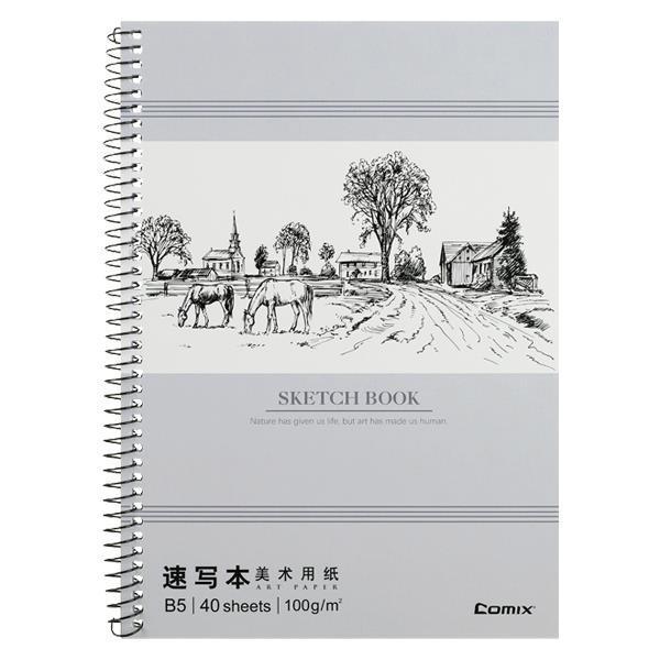 Comix μπλοκ σχεδίου, Β5 (17,5x25 εκ.), 40 φύλλα,100γρ., χαρτί λευκό